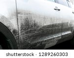 side view of a very dirty car.... | Shutterstock . vector #1289260303