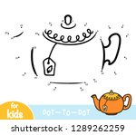 numbers game  education dot to... | Shutterstock .eps vector #1289262259