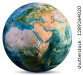 planet earth continents.... | Shutterstock . vector #1289264020