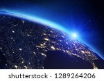 planet earth map. elements of... | Shutterstock . vector #1289264206