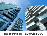 low angle converging... | Shutterstock . vector #1289265280