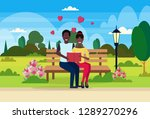 couple in love reading book... | Shutterstock .eps vector #1289270296