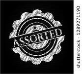 assorted on chalkboard | Shutterstock .eps vector #1289271190