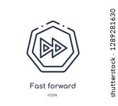 linear fast forward icon from... | Shutterstock .eps vector #1289281630