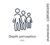 linear depth perception icon... | Shutterstock .eps vector #1289281690