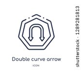 linear double curve arrow icon... | Shutterstock .eps vector #1289281813