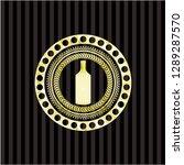 bottle icon inside gold badge... | Shutterstock .eps vector #1289287570