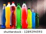 plastic bottles of assorted... | Shutterstock . vector #1289294593