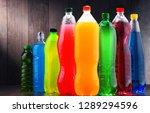 plastic bottles of assorted... | Shutterstock . vector #1289294596