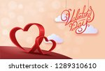 paper art of happy valentines... | Shutterstock .eps vector #1289310610