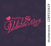happy valentines day typography ... | Shutterstock .eps vector #1289310619