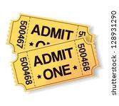 pair of yellow cinema tickets... | Shutterstock .eps vector #128931290