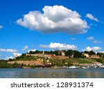 belgrade fortress and delta of... | Shutterstock . vector #128931374