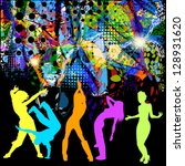 abstract illustration of disco. ...   Shutterstock .eps vector #128931620