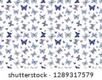 beautiful colorful butterflies... | Shutterstock . vector #1289317579