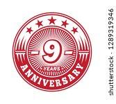 9 years anniversary.... | Shutterstock .eps vector #1289319346