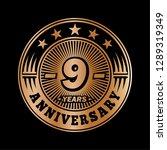 9 years anniversary.... | Shutterstock .eps vector #1289319349