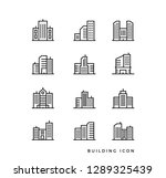 set cityscape line icon. set of ... | Shutterstock .eps vector #1289325439