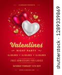 valentines day party flyer or... | Shutterstock .eps vector #1289339869