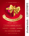 valentines day party flyer or... | Shutterstock .eps vector #1289339893
