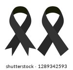 mourning and melanoma support... | Shutterstock .eps vector #1289342593