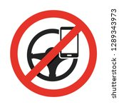 no cell phone  while driving....   Shutterstock .eps vector #1289343973