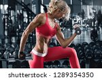 fitness woman working out in...   Shutterstock . vector #1289354350