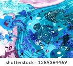 abstract marbling  ebru style...   Shutterstock . vector #1289364469