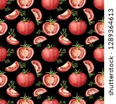 seamless pattern with red...   Shutterstock . vector #1289364613