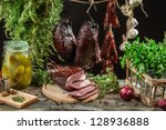 In rural pantry winter supplies - stock photo