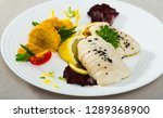 steamed cod fillets served with ...   Shutterstock . vector #1289368900