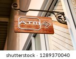Signpost To Go To The Atm