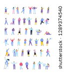 vector people set isolated on... | Shutterstock .eps vector #1289374540