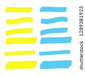 vector highlighter elements.... | Shutterstock .eps vector #1289381923