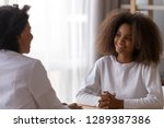 smiling african american... | Shutterstock . vector #1289387386