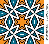 oriental traditional ornament ... | Shutterstock .eps vector #1289387599
