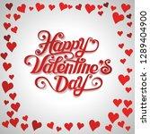 red hearts random frame.happy... | Shutterstock .eps vector #1289404900