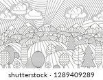 landscape of geometric elements ... | Shutterstock .eps vector #1289409289