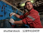closeup of auto mechanic. auto... | Shutterstock . vector #1289410459