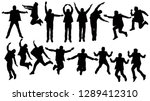 silhouettes group of young man... | Shutterstock .eps vector #1289412310