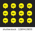 set of yellow sale icon banners ...   Shutterstock .eps vector #1289415853