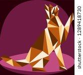 seamless koshika pattern  cats... | Shutterstock .eps vector #1289418730