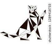 seamless koshika pattern  cats... | Shutterstock .eps vector #1289418733