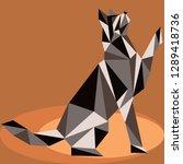 seamless koshika pattern  cats... | Shutterstock .eps vector #1289418736