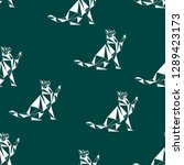 seamless koshika pattern  cats... | Shutterstock .eps vector #1289423173