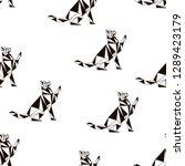seamless koshika pattern  cats... | Shutterstock .eps vector #1289423179