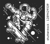 skatespace cartoon character | Shutterstock .eps vector #1289429539