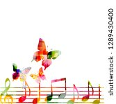 music background with colorful... | Shutterstock .eps vector #1289430400