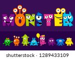 collection of cute monsters ... | Shutterstock . vector #1289433109