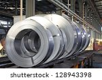 hot rolled strip steel products ... | Shutterstock . vector #128943398